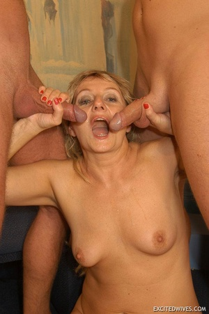 Nasty grannies get cum covered after rough gangbang fucking. Tags: Orgy sex, fat mature, cock sucking, homemade. - XXXonXXX - Pic 11