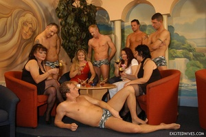 Suoer hot orgy sex performed by nasty mature wife and their lovers. Tags: Group sex, hairy vagina, boobs, blowjob. - XXXonXXX - Pic 1