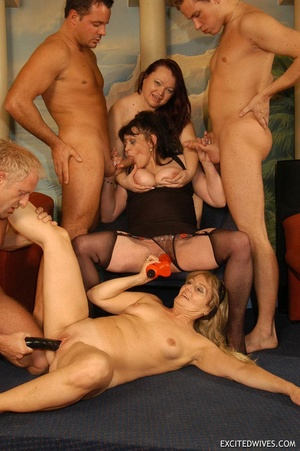 Suoer hot orgy sex performed by nasty mature wife and their lovers. Tags: Group sex, hairy vagina, boobs, blowjob. - XXXonXXX - Pic 10
