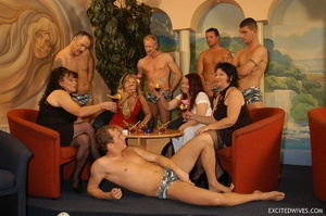 Naughty mature moms enjoying rockhard peckers in hot gangbang action. Tags: Orgy sex, granny, homemade, huge tits. - XXXonXXX - Pic 1