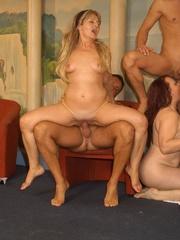 Naughty mature moms enjoying rockhard peckers in - XXXonXXX - Pic 5