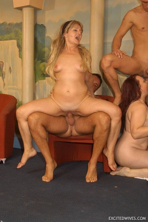 Naughty mature moms enjoying rockhard peckers in hot gangbang action. Tags: Orgy sex, granny, homemade, huge tits. - XXXonXXX - Pic 5