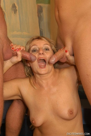 Naughty mature moms enjoying rockhard peckers in hot gangbang action. Tags: Orgy sex, granny, homemade, huge tits. - XXXonXXX - Pic 11