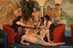 Plump mature grannies willingly taking a part in dirty orgy party. Tags: Gangbang, boobs, homemade, mature porn. - XXXonXXX - Pic 1