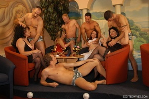 Plump mature grannies willingly taking a part in dirty orgy party. Tags: Gangbang, boobs, homemade, mature porn. - XXXonXXX - Pic 2