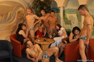 Plump mature grannies willingly taking a part in dirty orgy party. Tags: Gangbang, boobs, homemade, mature porn. - XXXonXXX - Pic 3