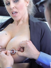 Busty blonde milf gets her nylons ripped - XXX Dessert - Picture 4