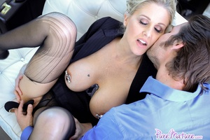 Busty blonde milf gets her nylons ripped - XXX Dessert - Picture 5