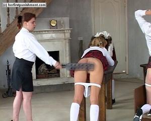 Naughty schoolgirl bends over and let's  - XXX Dessert - Picture 3
