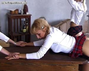 Naughty schoolgirl bends over and let's  - XXX Dessert - Picture 9