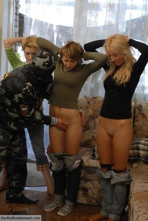 Superb teen babes spanked hard in milita - XXX Dessert - Picture 1