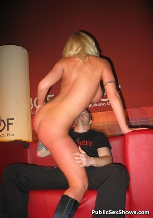 Busty blonde stunner gives an awesome lapdance to lucjy dude. Tags: Naked girl, reality, big tits. - XXXonXXX - Pic 1