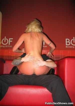 Busty blonde stunner gives an awesome lapdance to lucjy dude. Tags: Naked girl, reality, big tits. - XXXonXXX - Pic 10