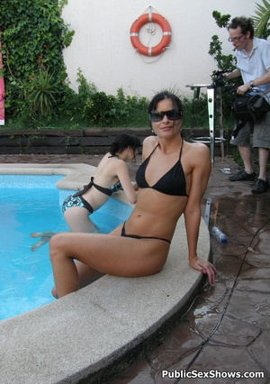 Lovely sexy chicks in bikini seductively posing poolside. Tags: Naked girls, reality, perfect body. - XXXonXXX - Pic 10