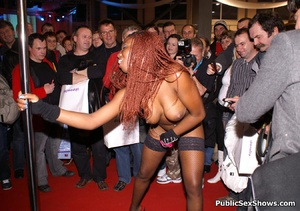 Sexy black babe slowly taking off her panties while dancing in public. Tags: Reality, sexy stockings, ebony chick. - XXXonXXX - Pic 4