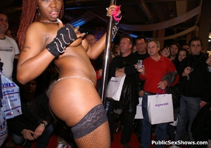 Sexy black babe slowly taking off her panties while dancing in public. Tags: Reality, sexy stockings, ebony chick. - XXXonXXX - Pic 9