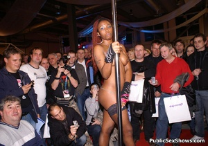 Sexy black babe slowly taking off her panties while dancing in public. Tags: Reality, sexy stockings, ebony chick. - XXXonXXX - Pic 10