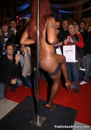 Sexy black babe slowly taking off her panties while dancing in public. Tags: Reality, sexy stockings, ebony chick. - XXXonXXX - Pic 12