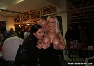 Naked sex show girl exposing their naked boobs and snatches. Tags: Reality, public posing, naked girls. - XXXonXXX - Pic 1