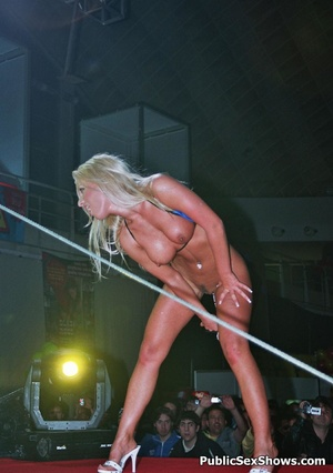 Sexy shaped sex models performing great striptease on the stage. Tags: Public, naked girls, reality, big tits. - XXXonXXX - Pic 11