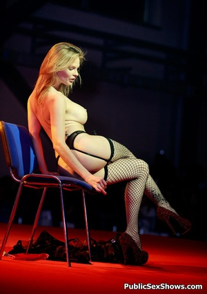 Stunning blonde hottie in sex ystockings teasing in public. Tags: Reality, big boobs, naked girl. - XXXonXXX - Pic 7