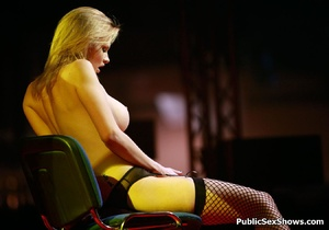 Stunning blonde hottie in sex ystockings teasing in public. Tags: Reality, big boobs, naked girl. - XXXonXXX - Pic 11