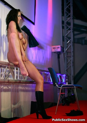 Busty sex show hottie fucking with lucky dude on the stage. Tags: Public porn, reality, sexy butt, naked girl. - XXXonXXX - Pic 3