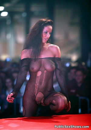 Busty sex show hottie fucking with lucky dude on the stage. Tags: Public porn, reality, sexy butt, naked girl. - XXXonXXX - Pic 8