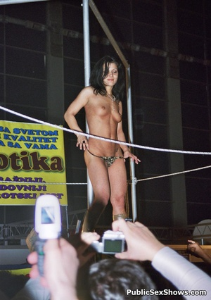 Hot xxx pics of dirty cuties going wild on sex show. Tags: Big tits, public, reality, striptease. - Picture 5