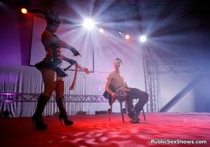 Exclusive hot xxx pics of wild sex show girls teasing. Tags: Reality, public sex, huge tits, insertion. - XXXonXXX - Pic 6