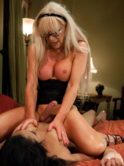 Sex hungry blonde TS milf enjoying hardcore - XXX Dessert - Picture 5