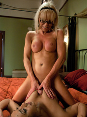 Sex hungry blonde TS milf enjoying hardcore - XXX Dessert - Picture 8