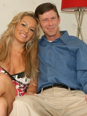 Hot Blonde Wife Sucks Another Man's - XXX Dessert - Picture 1