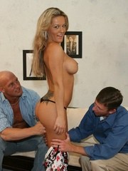 Hot Blonde Wife Sucks Another Man's - XXX Dessert - Picture 8