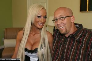 Busty Blonde Wife Fucks a Strange Man - XXX Dessert - Picture 1