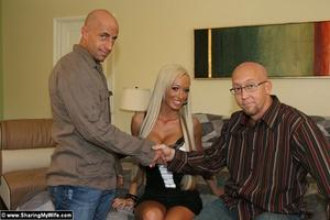 Busty Blonde Wife Fucks a Strange Man - XXX Dessert - Picture 2