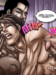 Hot gay cartoon scenes in these comix. Tags: gay - Picture 13