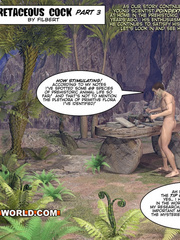 Cartoon porn with a caveman and an intellectual guy. - Picture 1