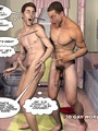 Gay roommates have fun in the bathroom - Picture 13