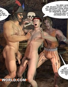 Pirates love to celebrate in their birthday suit while stimulating their