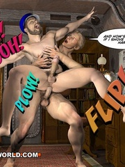 Captain Nemo likes it doggy style in gay cartoons. - Picture 14