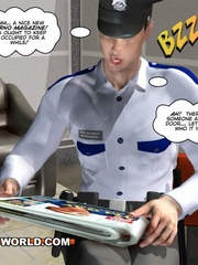 Hot gay cartoons sex behind closed door at the bank. - Picture 7