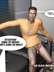 Hot gay cartoons sex behind closed door at the bank. - Picture 10