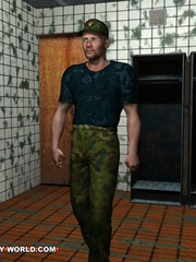 Hot gay cartoons at the prison's shower. Tags: adult - Picture 3