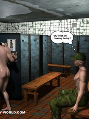 Hot gay cartoons at the prison's shower. Tags: adult - Picture 4