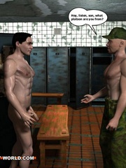 Hot gay cartoons at the prison's shower. Tags: adult - Picture 6