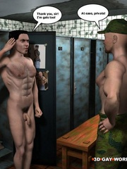 Hot gay cartoons at the prison's shower. Tags: adult - Picture 9