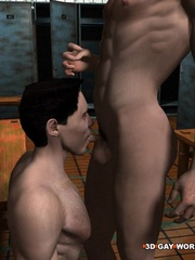 Hot gay cartoons at the prison's shower. Tags: adult - Picture 10