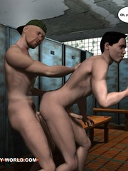 Hot gay cartoons at the prison's shower. Tags: adult - Picture 14