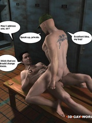 Hot gay cartoons at the prison's shower. Tags: adult - Picture 15